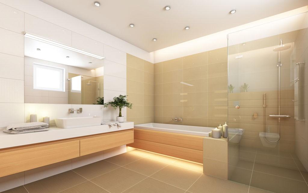 ... Modernes Bad Mit Ebenerdiger Dusche