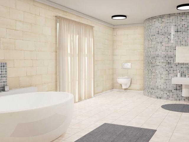 Badezimmer, freistehende Badewanne